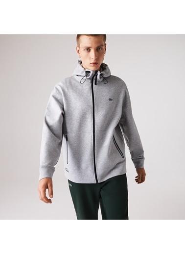 Lacoste Erkek Kapüşon Sweatshirt SH2192.CCA Gri